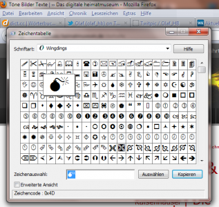 Wingdings Bomb (Picture by Twitter user @Olaf_HB on Twitpic)