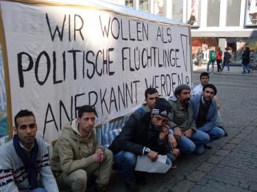 Flüchtlingsprotest in Würzburg