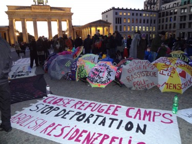 Protestlager in Berlin vor dem Brandenburger Tor