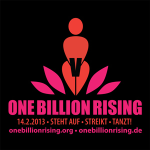 Das Logo von One Billion Rising auf Deutsch