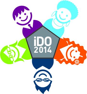 Logo der internationalen Deutscholympiade (iDO), Verwendung genehmigt.